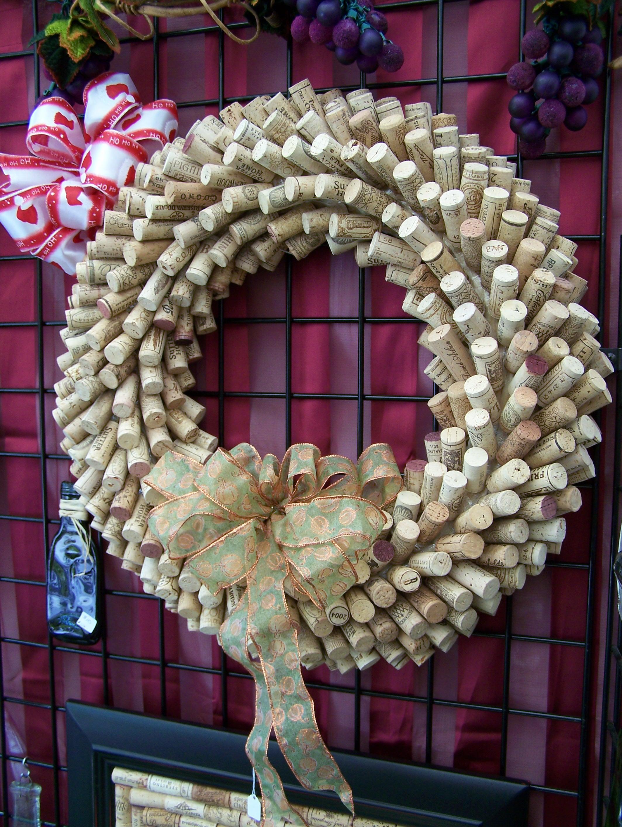 Wine cork wreath pictures